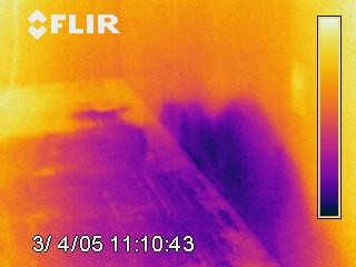 infrared moisture in wall