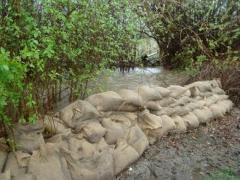 backyard sandbags